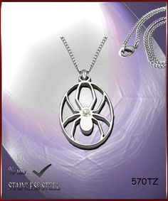 Axcesi 570T Spider pendant  stainless steel 30x31mm  by Axcesi