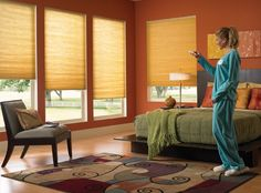 Motorization of your cellular shade offers easy, remote control operation of your cellular shades using SOMFY or Simplicity motors, wall switches and controls. Modern convience without any operating cords. They operate smoothly without the loose cords that can ensnare children and pets.