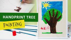 How To Make A Handprint Tree Painting | Kids Art Activity Art Activities For Kids, Fruit Of The Spirit, Creative Play, Acrylic Colors, Painting For Kids, Diy For Kids, Wedding Anniversary, Little Ones, Playlists