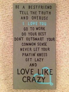 Love like crazy would love to put this over our bed! would so match the color scheme i have in mind!