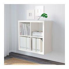 IKEA - KALLAX, Étagère, blanc, , Un seul élément peut servir de rangement dans un espace retreint, ou servir de base pour une solution de rangement plus importante lorsque les besoins évoluent.Vous avez le choix entre le fixer au mur ou le placer au sol.