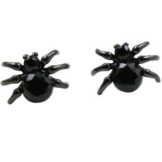 Amazon.com: 925 Sterling Silver Minimalist Black Spider Stud Earrings:... ($15) ❤ liked on Polyvore featuring jewelry, earrings, sterling silver jewelry, stud earrings, sterling silver jewellery, sterling silver earrings and sterling silver stud earrings