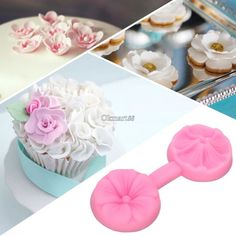 Cheap mold cupcake, Buy Quality mold fabric directly from China mould soap Suppliers: Homestyle Silicone Flower DIY Cake Mould Sugar Craft Tools Fondant Decorating Baking Mold Mould Cake Decorating Icing, Creative Cake Decorating, Cake Decorating Tools, Decorating Ideas, Fondant Cakes, Cupcake Cakes, Cupcakes, Cake Making Classes, Box Cake Recipes