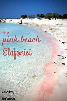 Crete: trail to the pink beach you'd know! Elafonisi is one of the best known beaches in Crete, Greece because of it's pink colour!Elafonisi is one of the best known beaches in Crete, Greece because of it's pink colour! Crete Island, Greece Islands, Greece Vacation, Greece Travel, Greece Trip, Places To Travel, Places To See, Travel Destinations, Voyage Europe