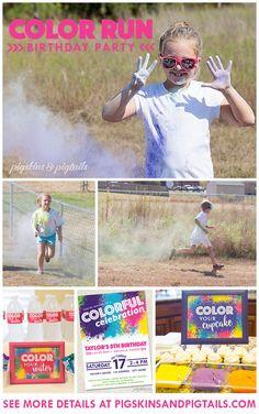 Color Run Birthday Party Theme Idea