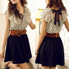 Business causal - I love the blouse and overall shape, but the skirt is too short to get away with