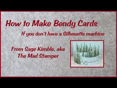 How to Make a Template for Marking & Cutting Bendy Cards - YouTube