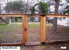 I actually like this for a dog fense. It doesn't look cheap with the wood framing the chicken wire. Good idea!