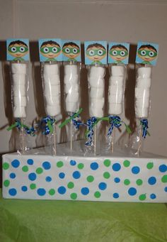 Super Why  Marshmallows Party Favors by FantastikCreations on Etsy, $1.00