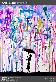 "ANTHELIOS PARASOL: ""Deluge"" by Marc Allante (www.marcallante.com and http://society6.com/artist/MarcAllante) RE-PIN THIS ART TO HELP RAISE AWARENESS FOR SKIN CANCER PREVENTION. For every repin, we'll donate 1 DOLLAR to The Skin Cancer Foundation. #SaveOurSkin"
