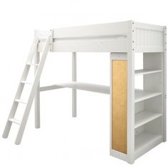 Warwick High Sleeper With Bookcase | High Sleepers for Children - Boys & Girls High Sleepers | ASPACE