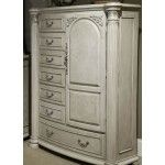 AICO Furniture - Monte Carlo II Gentleman's Chest in Silver Pearl - N53070-03  SPECIAL PRICE: $2,099.00