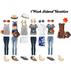 1 week vacation clothes, created by bignosekate28.polyvore.com