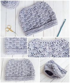 Let those messy buns and ponytails shine with this bun hat pattern that will allow you to rock an up-do while staying warm. This Seashore Messy Bun Hat pattern is beginner friendly and can be customized using the yarn brand and color of your choice.
