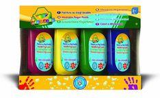 Crayola, farby do malowania palcami Mini Kids, 4 szt. Mini Kids, Finger Painting, Personal Care, Bottle, Fun, Dita, Shopping, Palenque, Fingers