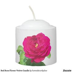 Red Rose Flower Votive Candle