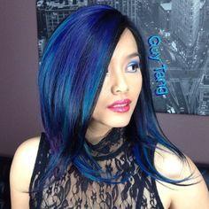 Turquesa Negro, Cabello Azul Oscuro, Pelo Loco, Inspo Pelo, Google Búsqueda, El Color Del Cabello, Turquoise Balayage, Balayage Google, Wig