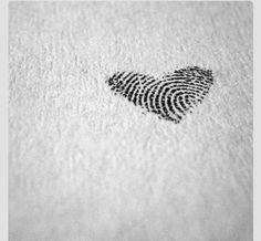 I love this, finger print tattoo.