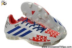 Sale Cheap White Blue Red Adidas Predator Lethal Zones II For David Beckhams Retirement Game 2013 Football Boots On Sale