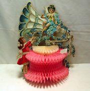 Amazing Vintage Honeycomb Phonograph Valentine Card