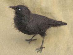 felted raven