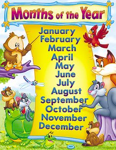 months of the year kids images