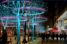 ACT Lighting Design - Tree Rings on Champs Elysees