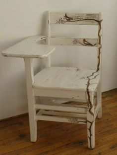 chic and antique   vintage school desk   Shabby and Chic (dad's chair for Brooklyn)