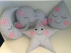 Cloud Pillow, Cat Pillow, Baby Sewing Projects, Chevron, Creation Couture, Baby Pillows, Valentine Crafts, Vintage Children, Creations