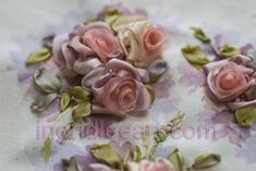 silk ribbon embroidery tutorials | Silk ribbon roses by Ingrid Lee