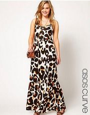 ASOS CURVE Maxi Dress In Animal Print