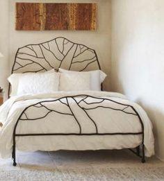 I love this natural patterned bed frame!