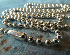 Sterling Silver Ball Chain Necklace in 3mm by RenataandJonathan