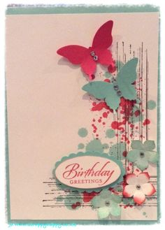 Stampin up Gorgeous grunge, petite petals and butterflies   My take on this