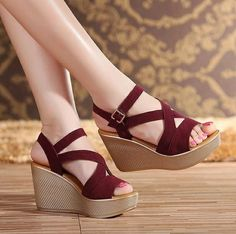 SWYIVY Wedge Sandals Shoes Women Platform Sandals Summer Shoes Casual Female 2019 Cross Strape Bohemian Chunky Sandal For Woman Source by lanitaufi shoes Women's Shoes Sandals, Wedge Sandals, Wedge Shoes, Shoe Boots, Gladiator Shoes, Strappy Sandals, Sandals Platform, Platform Wedge, Girls Shoes