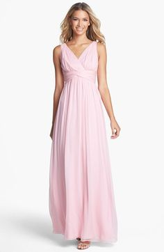 Donna Morgan 'Julie' Twist-Waist Silk Chiffon Gown (Regular & Plus) | Nordstrom
