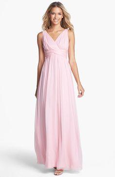 Donna Morgan 'Julie' Twist-Waist Silk Chiffon Gown (Regular & Plus) available at #Nordstrom nice for bridesmaids