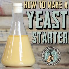 Knowing how to make a yeast starter is important because it tests and even improves the health and viability of yeast. And yeast plays an extremely important ro Beer Brewing Kits, Brewing Recipes, Homebrew Recipes, Beer Recipes, Coffee Recipes, Beer Making Process, Beer Making Kits, Wine Making, Make Beer At Home