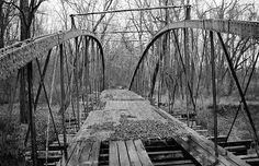 Old Springfield Bridge, Arkansas by Brian Cormack via Flickr, January 19, 2006
