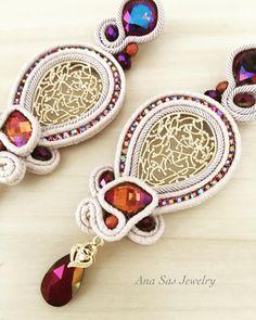 #swarovski #statement #statementjewelry #earings #soutache #handmade #handmadejewelry #handmadeearrings #fashion #fashionearrings…
