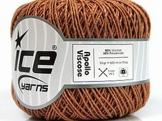 Apollo Viscose Copper  Fiber Content 90% Viscose, 10% Polyamide, Brand Ice Yarns, Copper, Yarn Thickness 2 Fine  Sport, Baby, fnt2-55112 Ice Yarns, Apollo 1, Copper, Beige, Wool, Fiber, Cotton, Sport, Baby