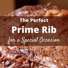 Prime Rib Christmas Dinner Recipe - Delishably - Food and Drink Prime Rib Recipe Easy, Rib Roast Recipe, Rib Recipes, Roast Recipes, Cooking Recipes, Game Recipes, Smoker Recipes, Yummy Recipes, Cooking Tips