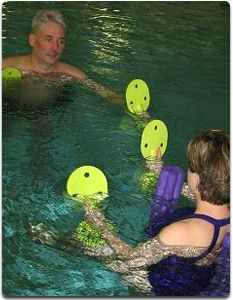 Regions Hospital - Rehabilitation Institute - Man and woman in pool - Pool Therapy