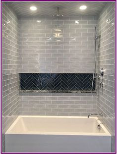 29 Popular Bathroom Shower Tile Design Ideas And Makeover. If you are looking for Bathroom Shower Tile Design Ideas And Makeover, You come to the right place. Here are the Bathroom Shower Tile Design. Hall Bathroom, Upstairs Bathrooms, Bathroom Renos, Bathroom Renovations, Bathroom Interior, Master Bathroom, Home Remodeling, Bathroom Ideas, Bathroom Inspo