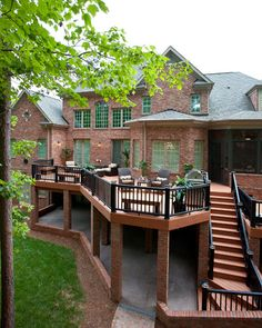 1000 images about deck ideas on pinterest two story for Two story deck design pictures