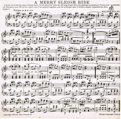 'A Merry Sleigh Ride' *** Printable antique winter music!  (Knick of Time)