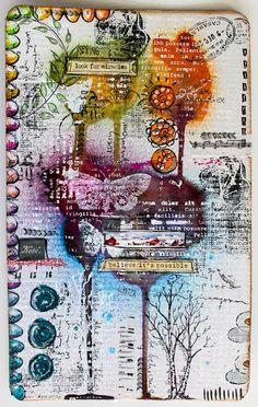 art journal Stephanie Schütze / Scrapmanufaktur für http://art-journal-journey.blogspot.co.at/