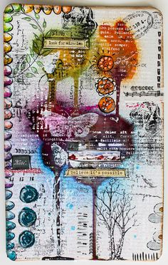 art journal Stephanie Schütze / Scrapmanufaktur für http://art-journal-journey.blogspot.co.at/