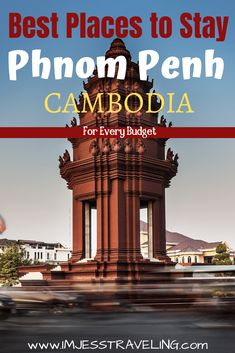 Phnom Penh is the capital of Cambodia and a main entry point in and out of the country. Here is a list of the best places to stay in Phnom Penh, Cambodia for all budgets. China Travel, Bali Travel, India Travel, Japan Travel, Beautiful Places To Visit, Cool Places To Visit, Places To Go, Phnom Penh, Travel Guides