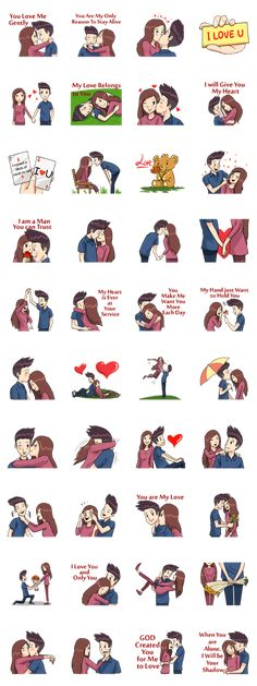 Romantic Moments 2 – LINE stickers Anime Sweet Couple, Love Cartoon Couple, Cute Love Cartoons, Wallpaper Iphone Cute, Cartoon Wallpaper, Screen Wallpaper, Telegram Stickers Love, Cute Relationships, Relationship Tips